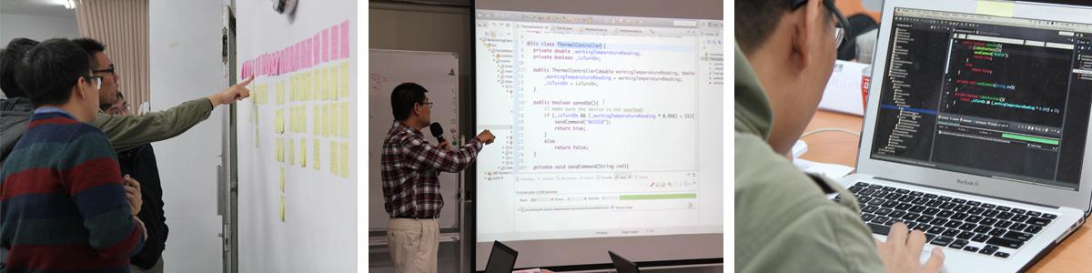 軟體重構入門實作班課程網頁實況照片